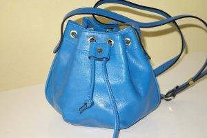 good texture quality design online retailer Org. AIGNER vintage mini Beutel-Umhängetasche in blau Leder top