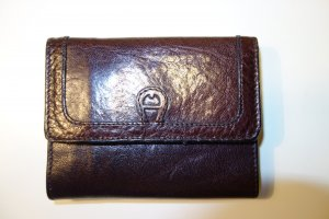 Aigner Wallet dark brown leather