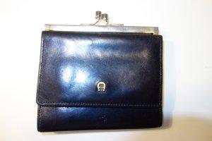 Org. AIGNER vintage mini Portemonnaie schwarz Leder