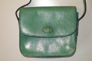 Org. AIGNER vintage mini Umhängetasche in grün Leder