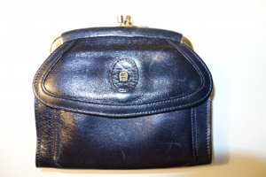 Org. AIGNER vintage Portemonnaie aus Leder in schwarz