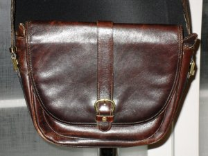 Aigner Crossbody bag black brown leather