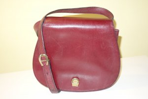 Org. AIGNER vintage Umhängetasche/Crossbody bag in bordeaux top inkl.Dustbag