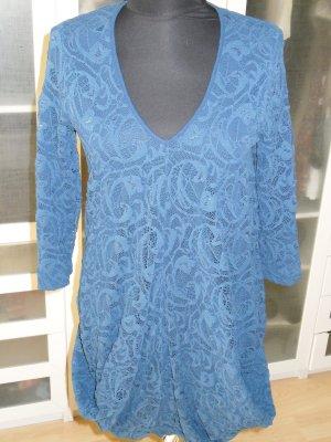 Org. ANNE FONTAINE Spitzen-Kleid in blau Gr.38