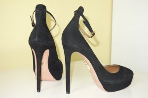 Aquazzura Plateauzool pumps zwart Suede