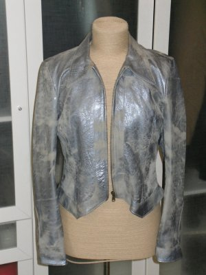 Atos Lombardini Leather Jacket pale blue leather