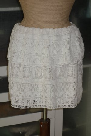 Ba&sh Lace Skirt natural white cotton