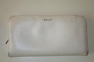 Org. BALLY Geldbörse weiß Leder