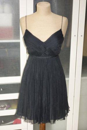 Org. BALLY vintage Kleid mit Spaghetti-Trägern Seidenchiffon gecrasht Gr.36