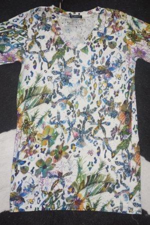 Org. BALMAIN distressed Shirt mit floralem Print Gr.40