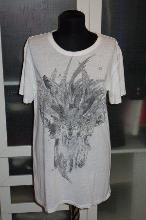 Balmain Camisa blanco-gris oscuro