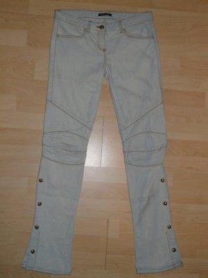 Org. BALMAIN Runway Biker Jeans hellblau Gr.36