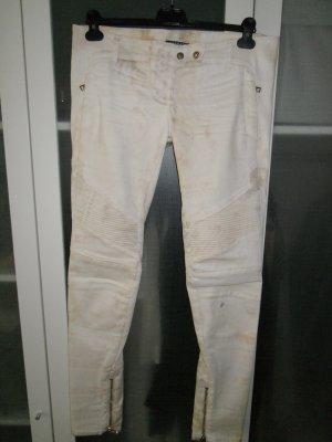 Org. BALMAIN Runway Biker Jeans skinny gemustert sold out