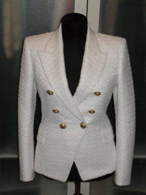 Balmain Blazer blanco-color oro