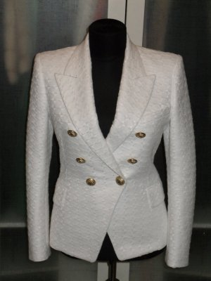 Balmain Blazer blanc-doré