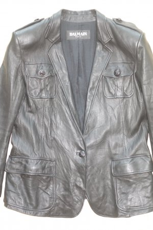 Balmain Leather Jacket black leather