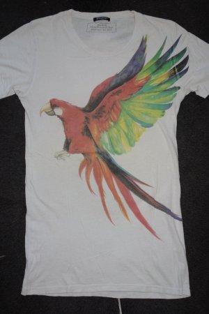 Org. BALMAIN Shirt mit Papageien-Print Gr.38