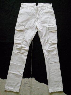 Org. BALMAIN skinny Cargo-Jeans weiss Gr.38 top