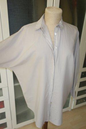 Org. BARBA Napoli oversized Bluse/Hemd Seide in grau Gr.36/38