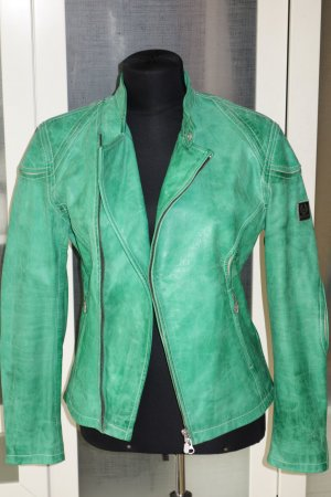 Belstaff Leather Jacket green leather