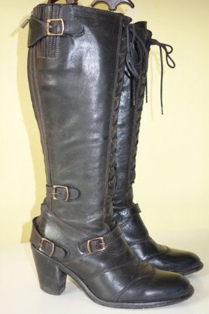 Belstaff Lace-up Boots black leather