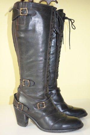 Belstaff Bottes à lacets noir cuir