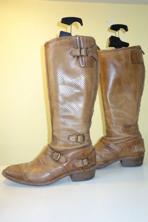 Belstaff High Boots light brown leather