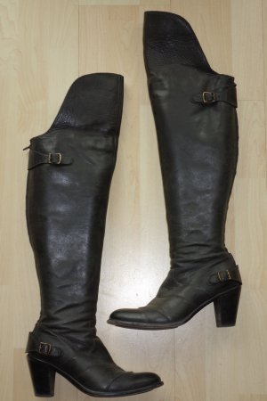 Belstaff High Boots black leather