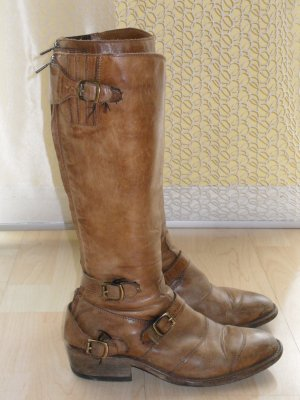 Belstaff High Boots brown-sand brown leather