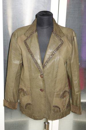 Benedetta Novi Leather Jacket dark green leather