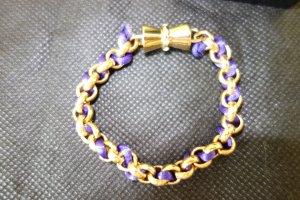 Bracelet gold-colored-blue violet
