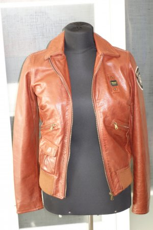 Blauer Leather Jacket cognac-coloured leather