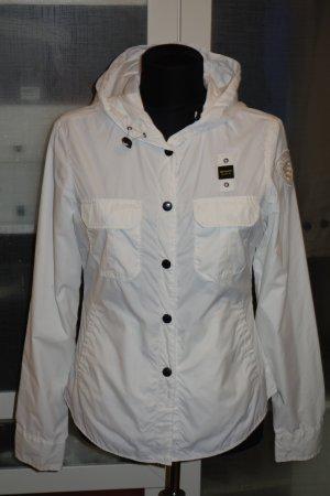 Org. BLAUER USA Sommer-Übergangsjacke in weiß Gr.M