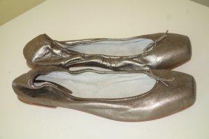Bloch Ballerinas with Toecap light grey-bronze-colored leather