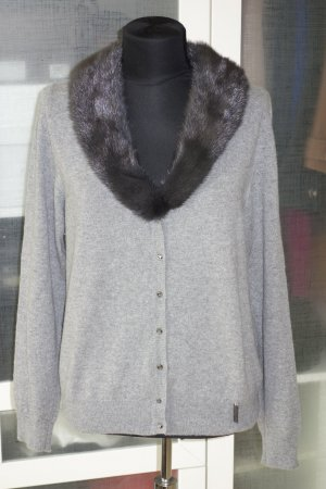 Blumarine Cardigan grey cashmere
