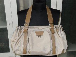Org. BOGNER Tasche beige nylon/Leder wie neu