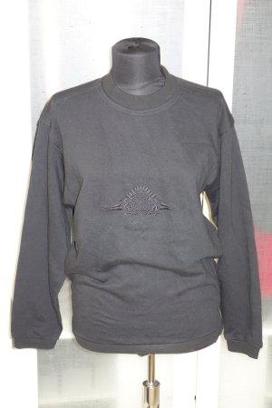 Org. BOGNER vintage Sweatshirt schwarz mit Stickerei Gr.XS