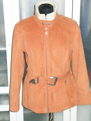 Org. BOGNER Winter-Skijacke in orange mit Fransen Gr.38