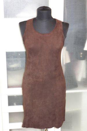 Org. BOSS Hugo Boss Wildleder-Kleid in dunkelbraun Gr.36