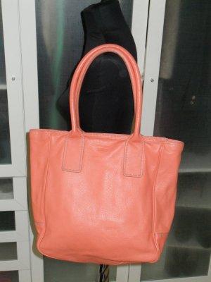 Org. BREE Leder-Shopper Tasche orange