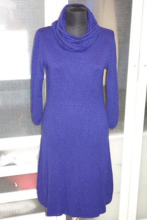 Org. BRUNO MANETTI Kaschmir Strickkleid in blau-violett Gr.36