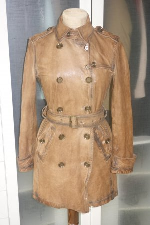 Burberry Brit Cappotto in pelle marrone chiaro Pelle