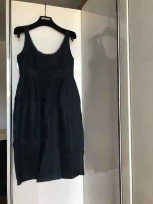 Org BURBERRY Empire Leinen Kleid navy 36 wNeu 399€ Sommerkleid blau