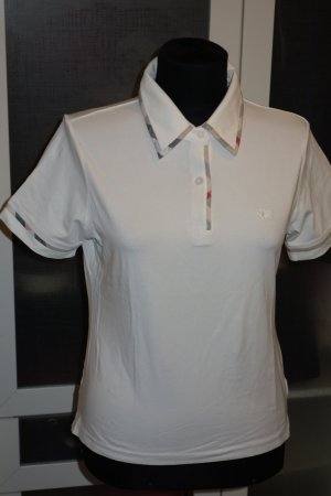 Org. BURBERRY London Polo in weiß Gr.38