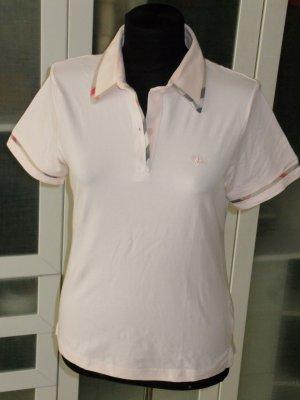 Org. BURBERRY London Poloshirt rosa Nova Check Gr.38/40
