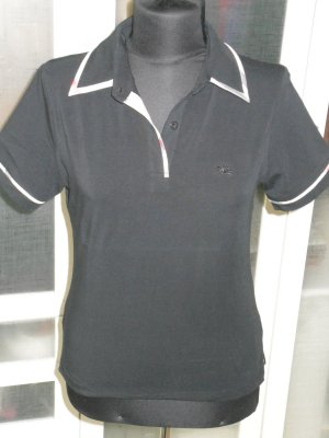 Org. BURBERRY London Poloshirt schwarz Nova Check Gr.M