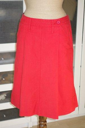 Burberry Midi Skirt red cotton
