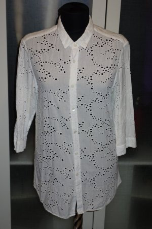 Org. BURBERRY Prorsum Bluse mit cut outs weiß Gr.38/40