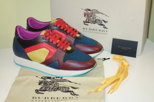 Org. BURBERRY Prorsum multicolour Sneaker Leder/Canvas Gr.40