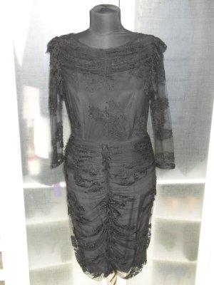 Org. BURBERRY Prorsum Runway Spitzen-Kleid gerafft sold out wie neu